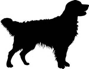 Golden Retriever Sitting Outline by Silueta Golden Retriever Contorno Y Silueta Vector