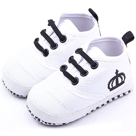Baby Shoes Prewalker Ella White fashion baby boys white soft sole crib shoes cotton sneaker prewalker in walkers