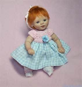 Ooak polymer clay baby hand sculpted art doll mini baby girl by