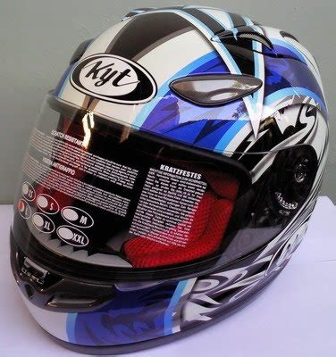 Helm Kyt Rocket White Black jualjakethelm helm kyt v2r 2 black blue kf05