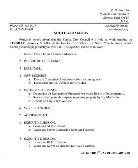 Work Agenda Template 8 work agenda templates free sle exle format