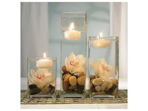 adornos de mesa para bodas con velas centros de mesa para bodas con piedras