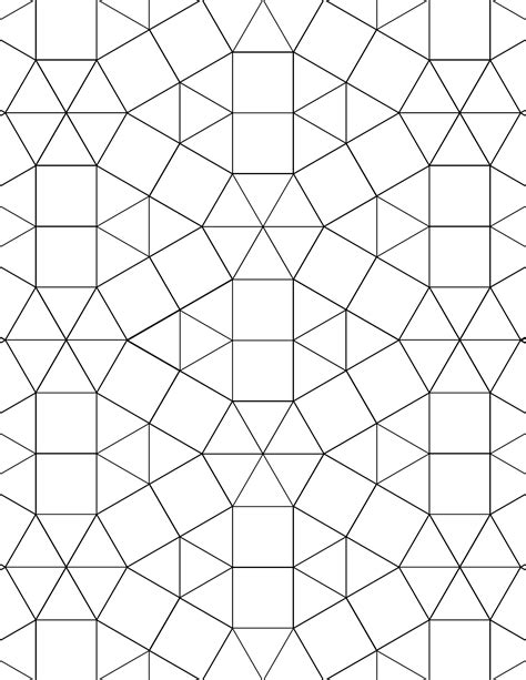 tessellating shapes templates tessellation graph paper 3 3 3 3 3 3 3 3 4 3 4 free