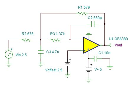 low pass filter with low dc offset