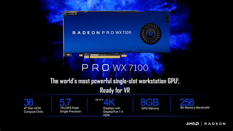 Amd Radeon Pro Wx 7100 amd radeon pro wx 7100 o placa ce nu i de joaca news egaming community