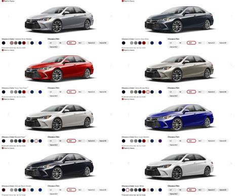 2016 toyota exterior color chart 2017 2018 best cars reviews