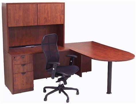 two person peninsula desk cherry laminate 2 person peninsula workstation w hutches