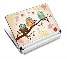 Garskin Skin Cover Stiker Laptop Na Leaf 1 three owls fashion netbook laptop skin sticker reusable protector cover for 11