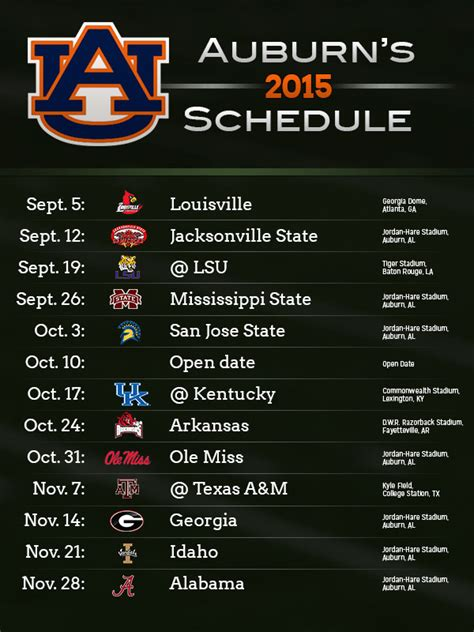 section x sports schedule 2015 alabama auburn football schedules released