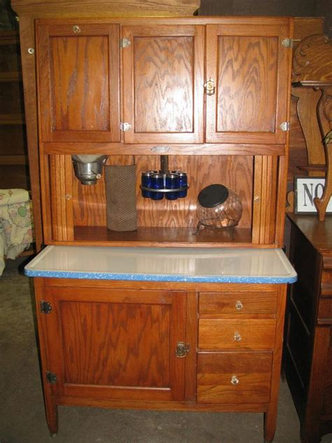 Antique Kitchen Cabinets Antique Bakers Cabinet Oak Hoosier Kitchen Cabinet 1495 00 With Accessories Vintage