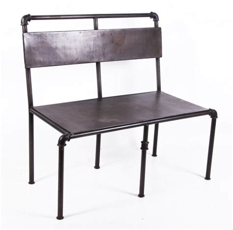 industrial style bench quot stockwell loft quot industrial style garden bench black