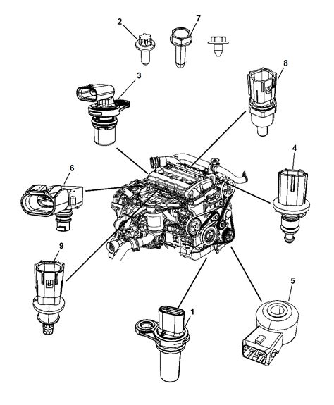 dodge jeep 2007 2007 dodge caliber sensors engine mopar parts