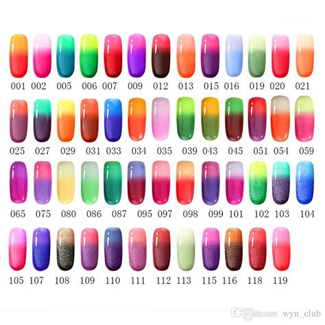 gel color changing nail uv nail gel temperature change uv nails mood