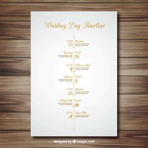 Hochzeitseinladung Timeline by Hochzeit Timeline Der Kostenlosen Vektor