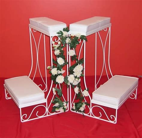 kneeling bench for wedding kneeling bench white rent all inc asheville nc