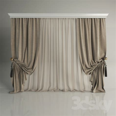 classic draperies 3d models curtain classic curtains