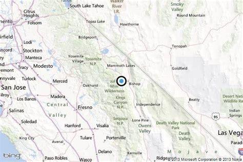 california map bishop earthquake 3 6 quake strikes near west bishop calif