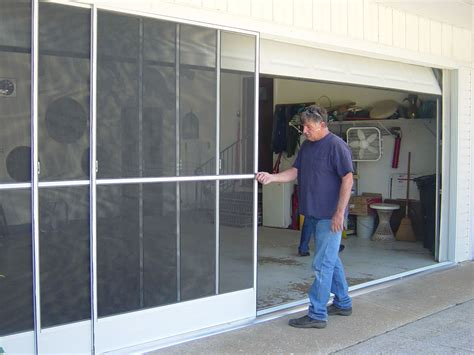 Screen For Garage Door Opening by Sliding Garage Door Screens From Killian S Of Palm Coast Fl