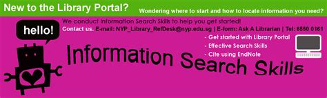 information search skills nyp library s