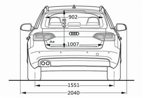 Audi A4 Avant Abmessungen by Audi A4 Avant B8 Abmessungen Technische Daten