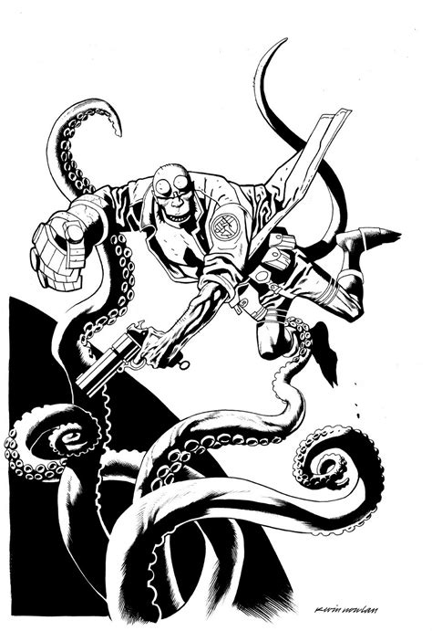 free coloring pages of hellboy