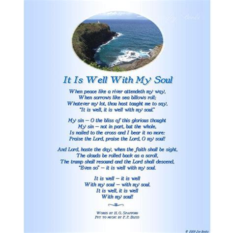 printable lyrics it is well with my soul it is well with my soul 8 x 10 song lyrics with