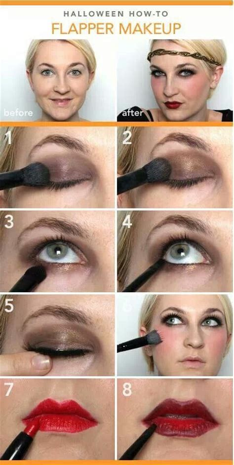 how to do your hair roaring twenties flapper girl makeup step by step pictures and video