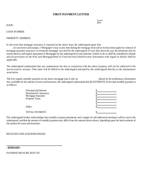 Loan Payment Letter mortgage payment letter sle pictures to pin on pinsdaddy