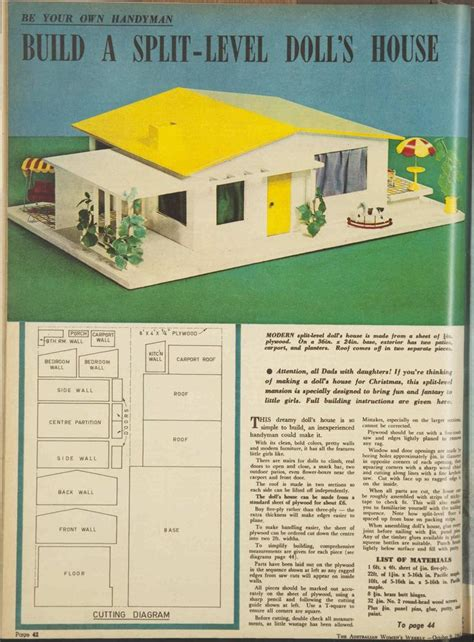 Split Level House Plans 1960s 17 Best Images About Historic Dolls Houses On Miniature Libraries And 1960s