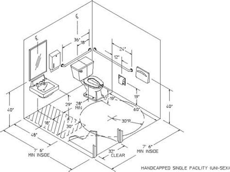 ada bathroom dimensions bathroom design ideas id 306