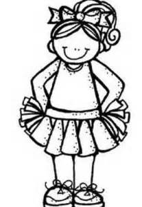 cheerleading clipart black and white cliparts co