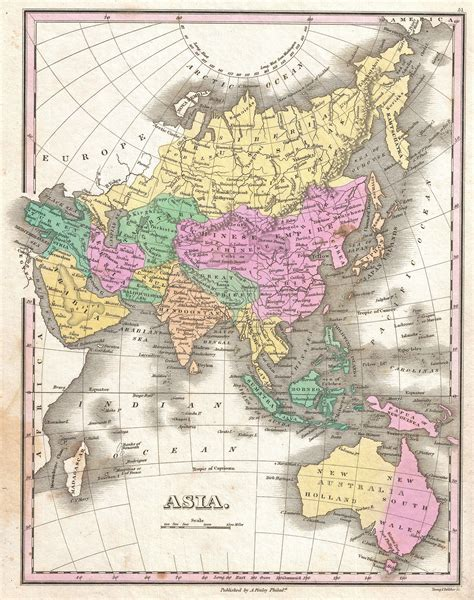 map of asia and australia file 1827 finley map of asia and australia geographicus