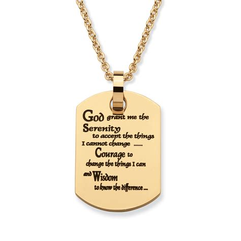 prayer necklace palmbeach jewelry quot serenity prayer quot tag necklace gold