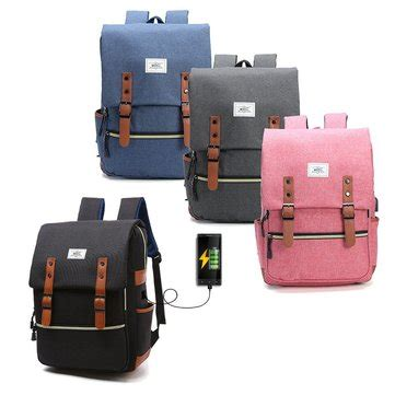Backpack Laptop Bag Travel With Usb Port D8205w 17 3 Inch Olb1868 s s anti theft waterproof laptop backpack bag travel bag with external usb charging