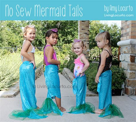 Sew Home Decor how to make no sew mermaid tails mermaid party craft
