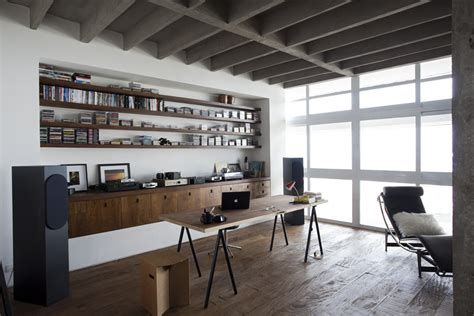 concrete floor apartment polished concrete apartment in brazil with wooden floor