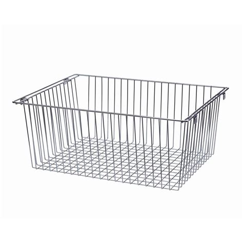 Closet Organizers Wire Baskets by Shop Allen Roth Nickel Wire Basket At Lowes