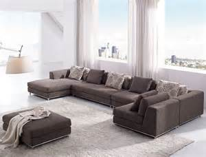 Living room with brown sofa and ottoman newest modern living room