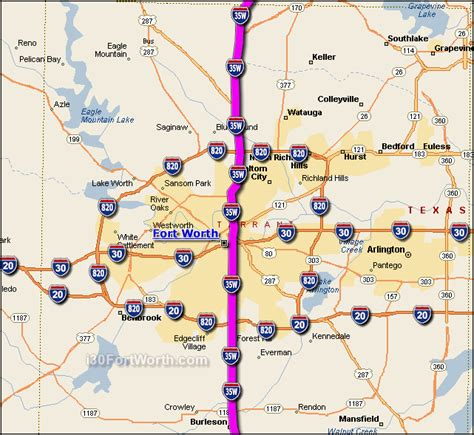 dallas texas traffic map interstate 35 fort worth map