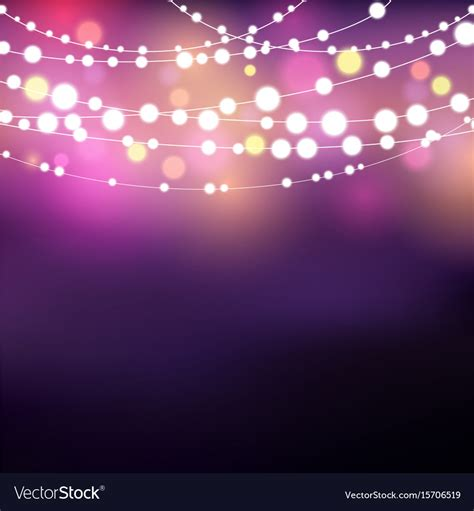 lights background string lights background royalty free vector image