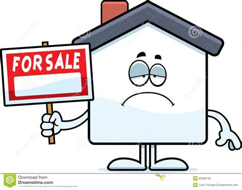 sad home sale stock vector image 52396145