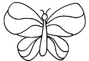 Easy Butterfly Coloring Pages sketch template