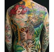 Full Back Tattoo By Jee Sayalero Of A Pin Up Pirate Girl In New