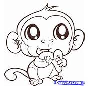 How To Draw An Easy Monkey Step By Forest Animals