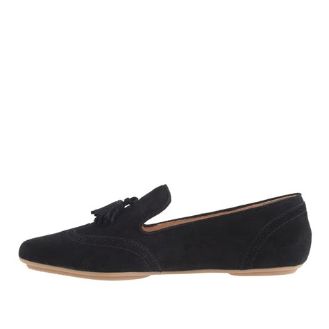 suede tassel loafers for lyst j crew georgie suede tassel loafers in black
