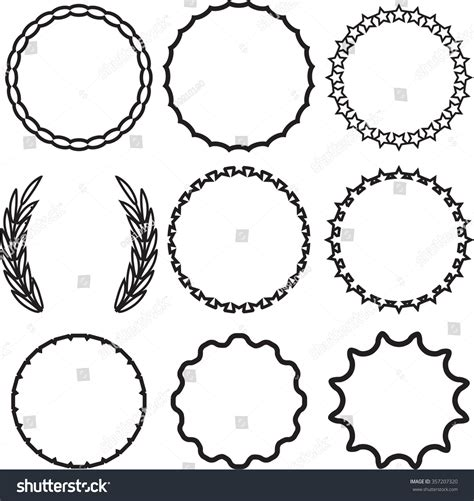 Vintage Circle frame set decoration template vintage stock vector