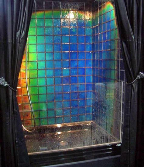 Color Changing Bathroom Tiles by This Shower Tile Changes Color Depending On The