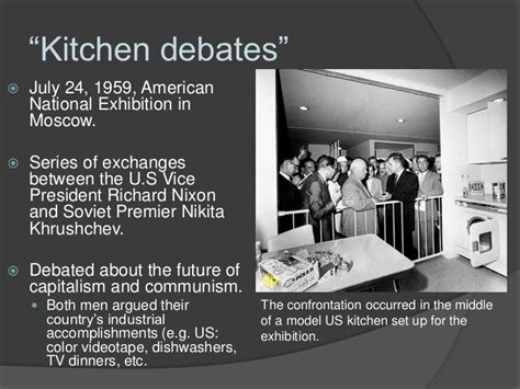 In The Kitchen Debate Richard Nixon Argued by In The Kitchen Debate Richard Nixon Argued Answer 28