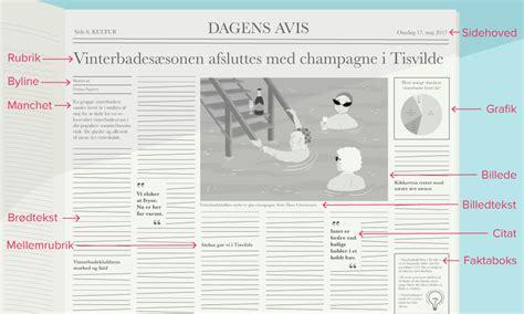 layout til artikel nyhedsartikel