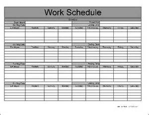 Here is a preview of the quot basic monthly work schedule quot form